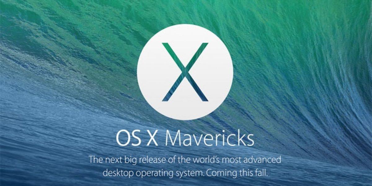 Maverick Apple OS 2013